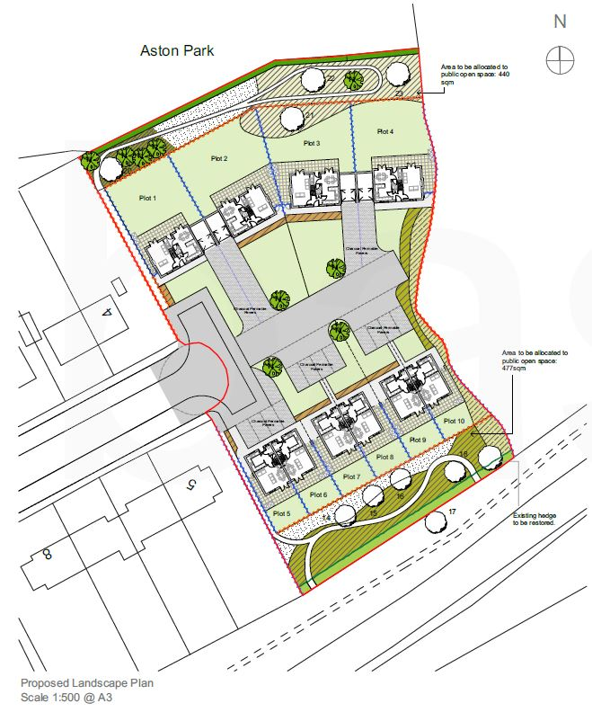 Map of new homes in Wem